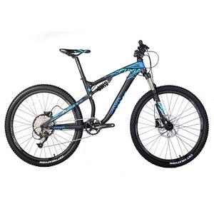 جافا دراجة هوائية جبلية 27.5er تعليق كامل دراجة 9 سرعة النفط مكبح قرصي