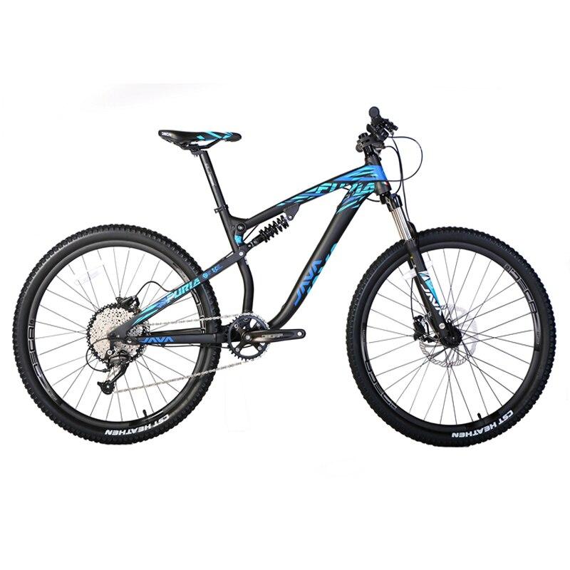 JAVA VTT 27.5er vélo à Suspension complète 9 vitesses frein à disque à huile
