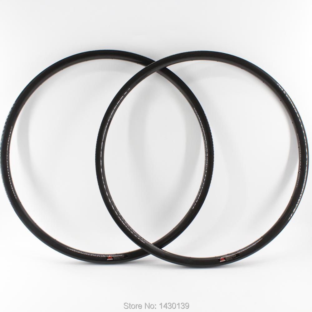 2 Pcs Nouveau 29 pouces pneu jante vtt 3 K UD 12 K pleine fiber de carbone vélo roues jante VTT 29er 30mm largeur Livraison gratuite