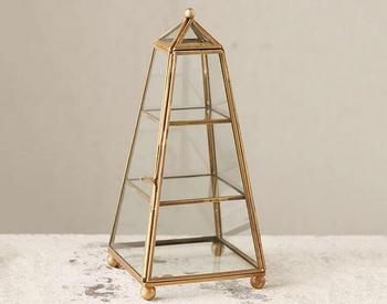 Multifunction Tower shape three layers jewelry display terrariums,glass table decoration terrarium wedding boxes gift box