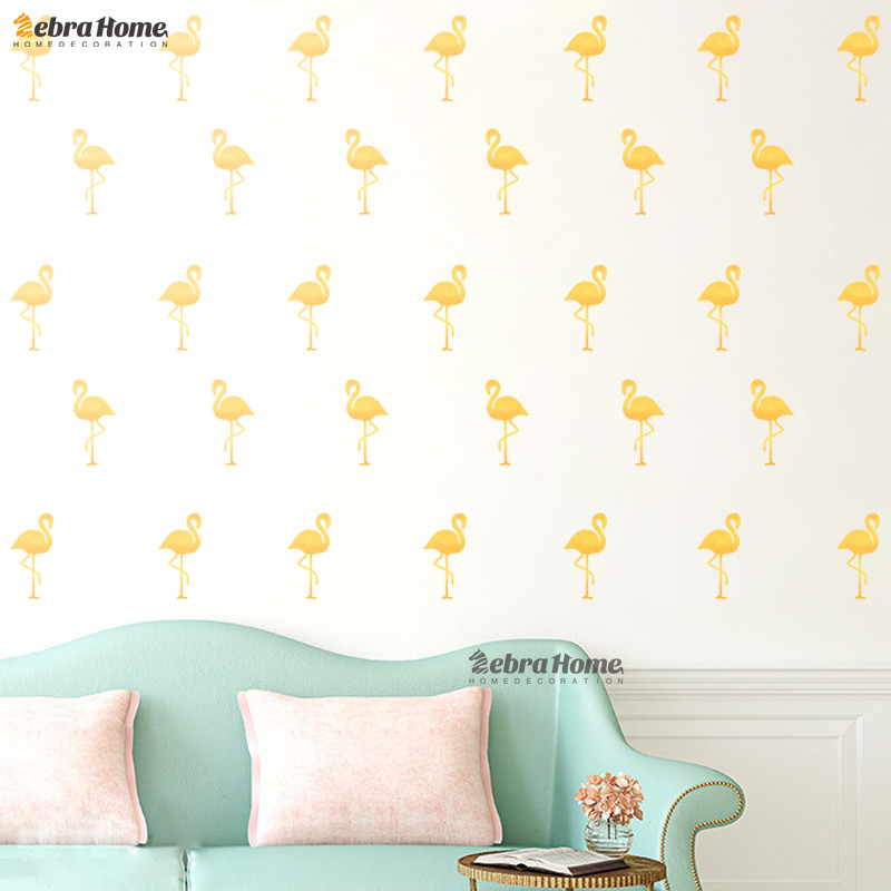 Us 4 89 Diy Flamingo Removable Wallpaper Decal Wall Stickers For Living Room Baby Nursery Bedroom Home Decor In From Garden On