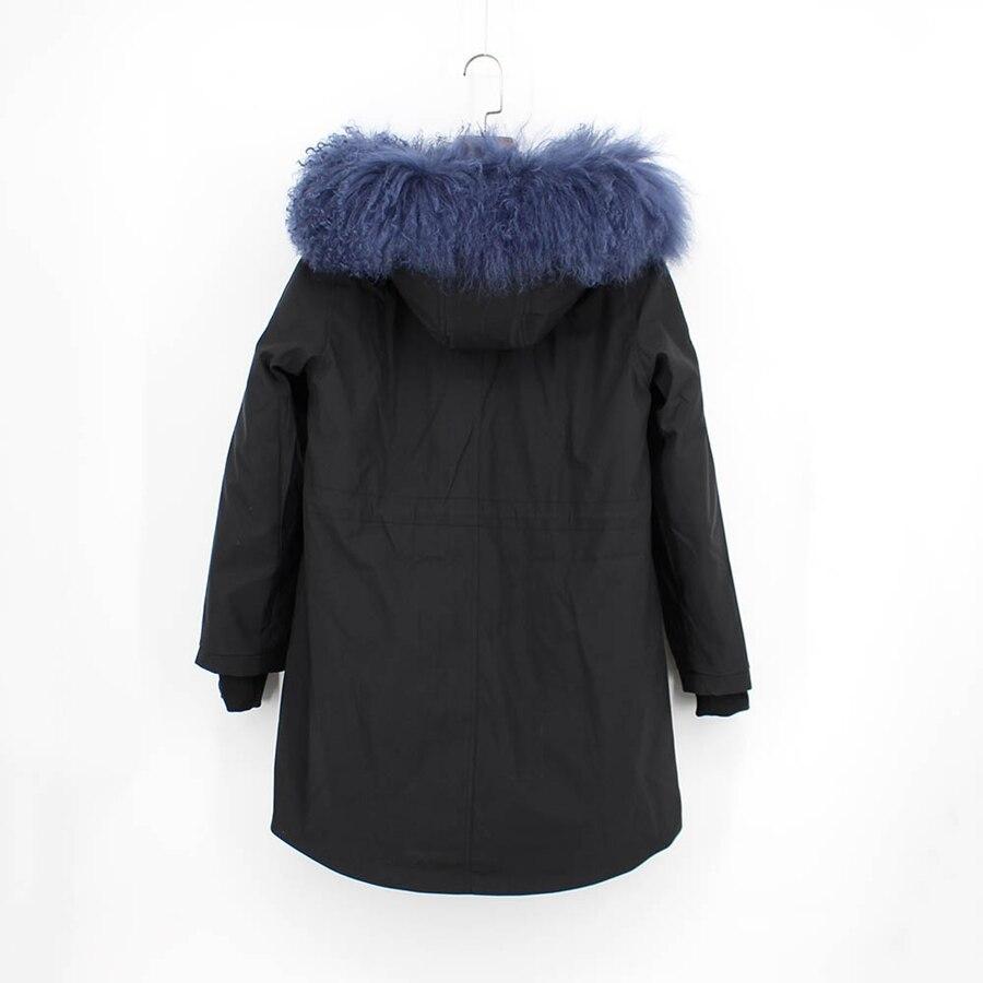 Parent-childs natural fur parkas with hood (21)