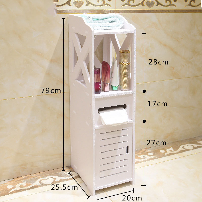 US $62.99 50% OFF|Simple Bathroom Vanity Floor Standing Bathroom Storage  Cabinet Washbasin Shower Corner Shelf Plants Sundries Storage Rack on ...