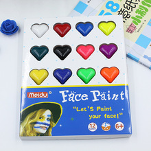20pcs/set 12-color Face Paint Human Body Childrens Makeup Water-soluble Oil Costplay Halloween Party