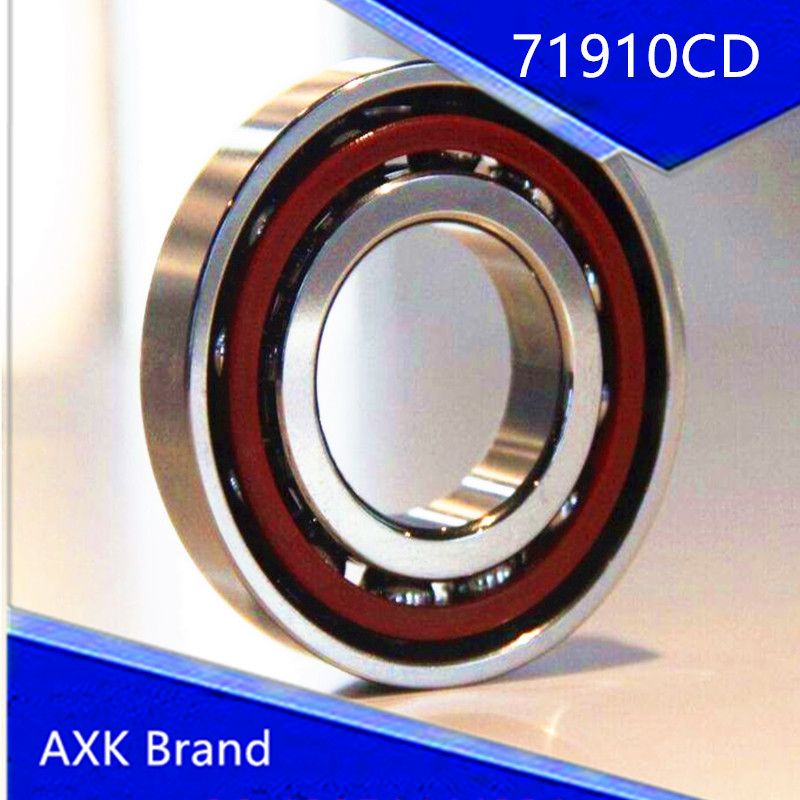 1pcs 71910 71910CD P4 7910 50X72X12 AXK Thin-walled Miniature Angular Contact Bearings Speed Spindle Bearings CNC ABEC-7 1pcs 71932 71932cd p4 7932 160x220x28 mochu thin walled miniature angular contact bearings speed spindle bearings cnc abec 7