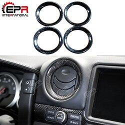 Dla Nissan R35 GTR zimne powietrze z włókna węglowego Con Surround Vents GT-R zestaw do tuningu nadwozia dla GTR R35 akcesoria do wnętrz samochodowych (4 szt.)
