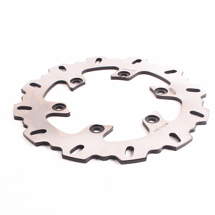 6 Holes Rear Brake Disc Rotor For Yamaha YZF R1 1998-2001 XJR400 1995-2000 FZS 600 FAZER 1998-2003 Moto Accessories Bicycle Pads economic bicycle brake pads black 4 pcs
