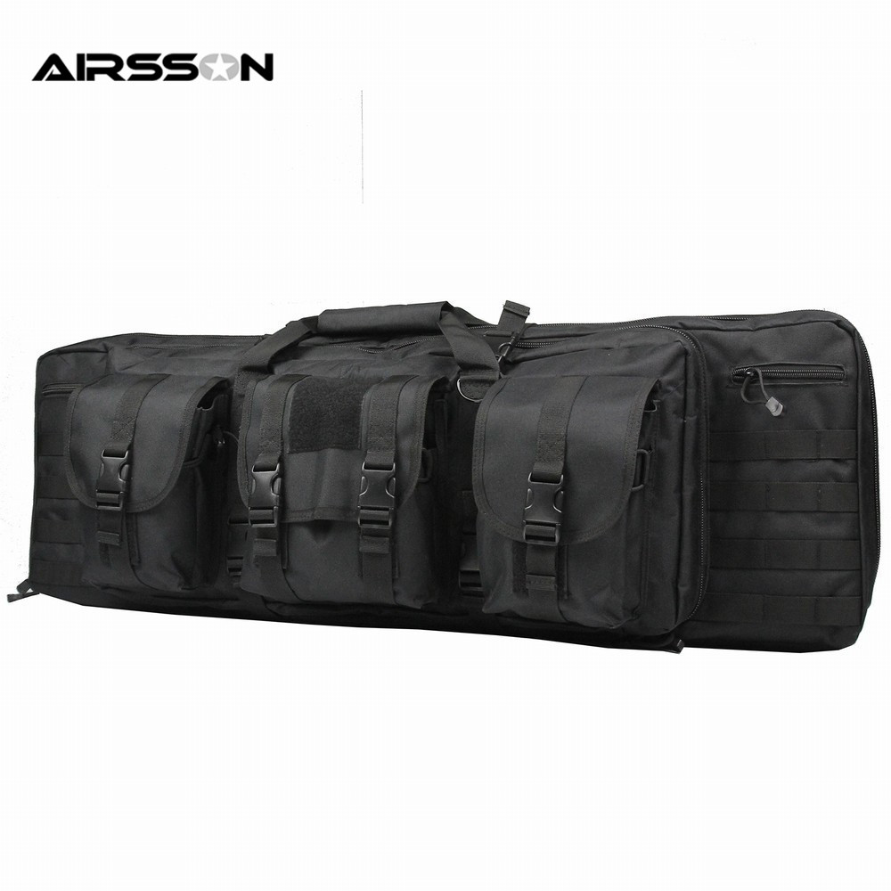 Airsson Tactical Military 1000D Nylon Gun Backpack Rifle Case Gun Bag Airsoft For 385 Hunting Gun Bag Paintball Combat Backpack вибрационная шлифмашина bosch pss 200 ac 0603340120
