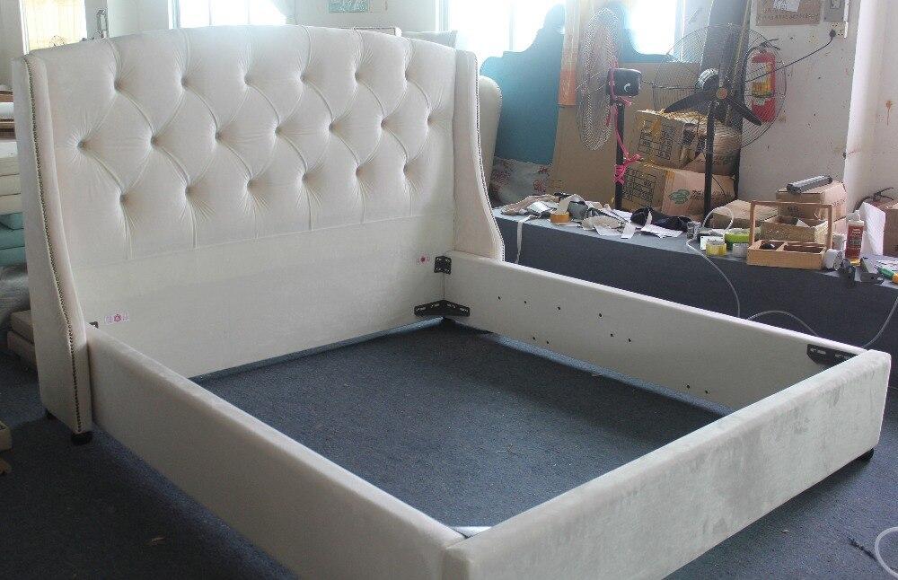 La moda moderna cama de tejido alta calidad muebles de dormitorio de ...