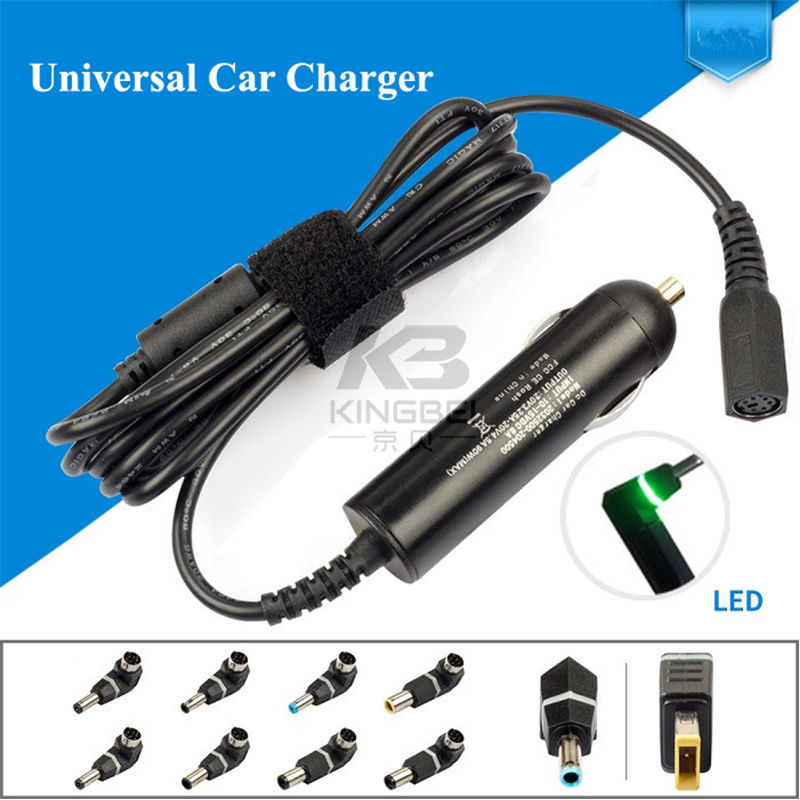 Slim 90W Universal Car Charger with 10 Detachable connector Plug For Lenovo Thinkpad Hp envy Toshiba HP Dell Sony laptop adapter new automatic 90w universal power adapter car charger for notebook laptop for lenovo asus acer toshiba gateway hp