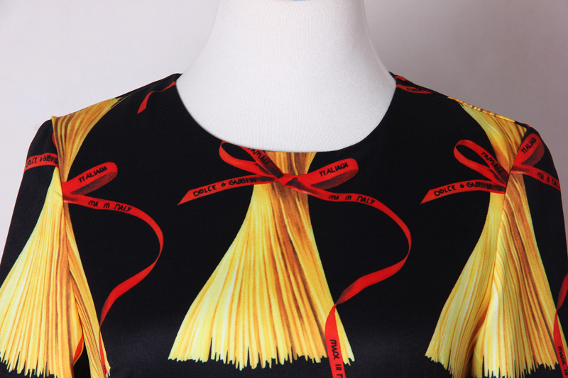 Mifairy Milan piste col rond manches longues moulante femmes robe italie Noodies imprimer marque même Style robes de grande taille Vestidos - 4