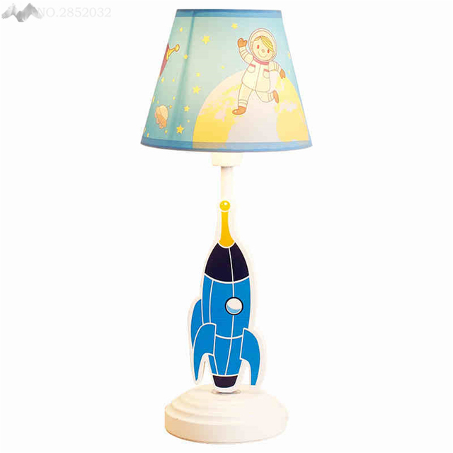 LFH Creative Cute Table Lights Spaceship Childrens Room Boy - Boy lamps for bedroom