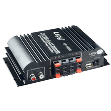 LP-168S 2.1 Channel Car Amplifier 3.55MM Audio Wired 168S Mini Hi-Fi Stereo Bass Output Power US plug 160w 2 bluetooth tda7498e home digital amplifier stereo hi fi audio power amplifier apt x