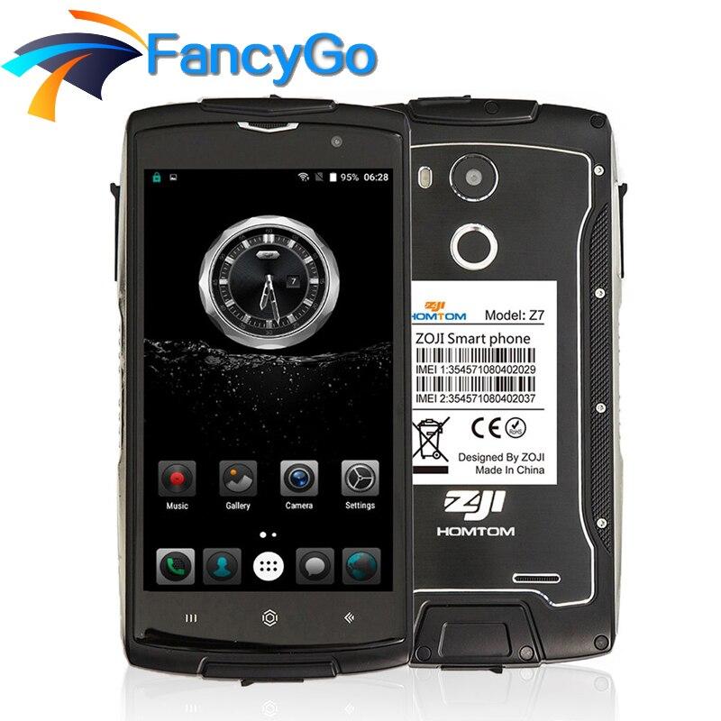 Original Homtom ZOJI Z7 IP68 Waterproof 2GB+16GB MTK6737 1.3GHz Quad Core 5.0 Inch Screen Android 6.0 3000mAh 4G LTE Smartphone