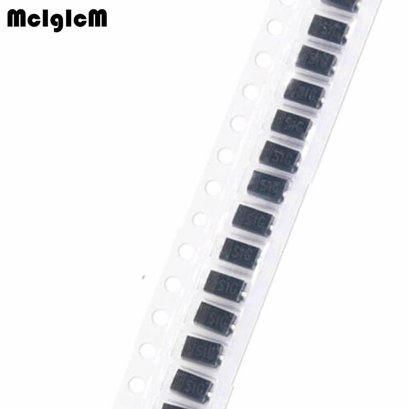 MCIGICM diodo Schottky de SS12 SS14 SS16 SS24 SS210 SS34 SS36 SS54 SS510 DO-214AC DO-214AB DO-214AA