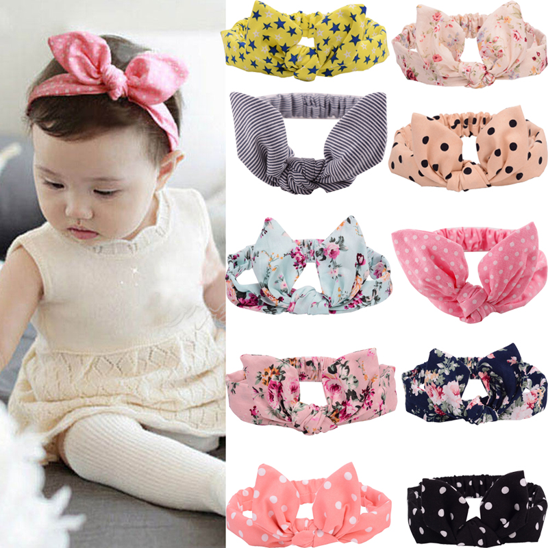 Hot Lovely Kids Rabbit Ear Headband Bowknot Hair Band Hair Accessories hot sale hair accessories headband styling tools acessorios hair band hair ring wholesale hair rope