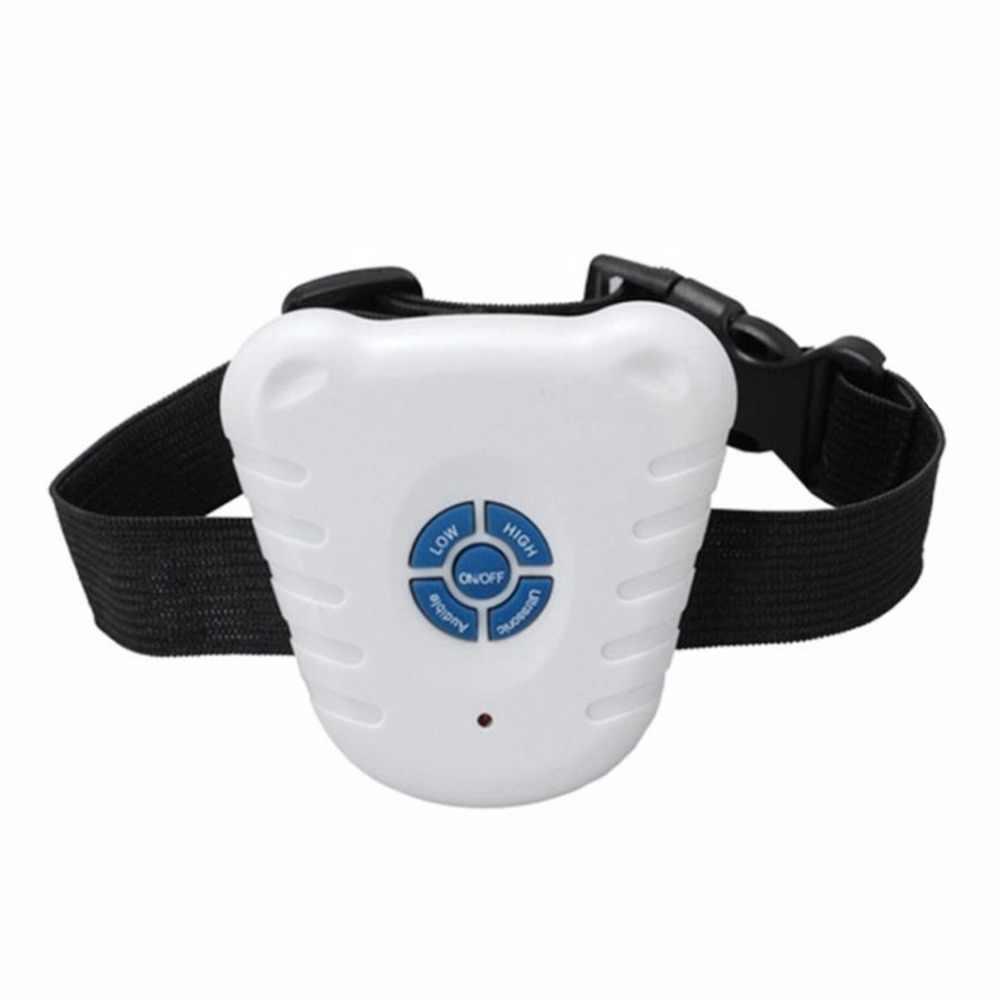 Universal ultrasónico accesorios para perro mascota Anti corteza No ladrar vibración eléctrica perro mascota entrenamiento Collar tapón caliente nuevo