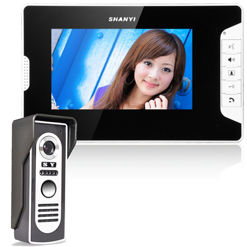 FREE SHIPPING 7 inch LCD Color Video door phone Intercom System Weatherproof Night Vision Camera Home
