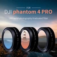 WTIANYA TYserize UAV filters for DJI phantom 4 pro /advanced Graduated grey Orange Blue filter