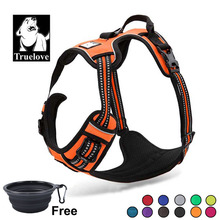 Truelove Dog Harness Small Large Durable Reflective Pet Running Safety Lift Pulling Walking For Travel