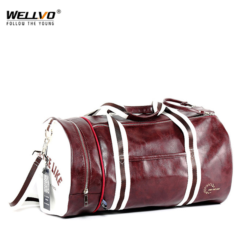 Top Male Travel Luggage Bag with Independent Shoes Storage Women Fitness Bag PU Leather Printing Basketball Training Bag XA253WCTop Male Travel Luggage Bag with Independent Shoes Storage Women Fitness Bag PU Leather Printing Basketball Training Bag XA253WC