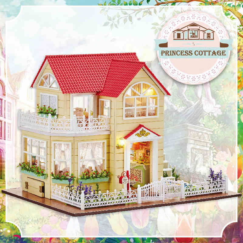 DIY Wooden House Miniaturas with Furniture DIY Miniature House Dollhouse Toys for Children Christmas and Birthday Gift A033 diy wooden house miniaturas with furniture diy miniature house dollhouse toys for children christmas and birthday gift a28