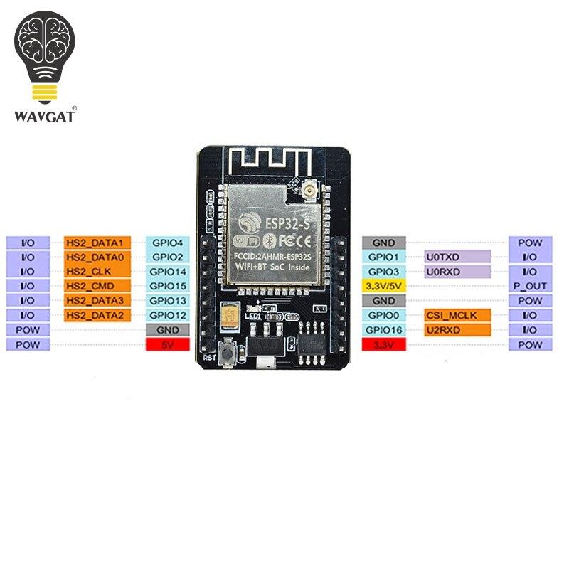 Image 5 - ESP32 CAM وحدة واي فاي ESP32 المسلسل إلى واي فاي ESP32 كام مجلس التنمية 5V بلوتوث مع وحدة الكاميرا OV2640الدوائر المتكاملة   -