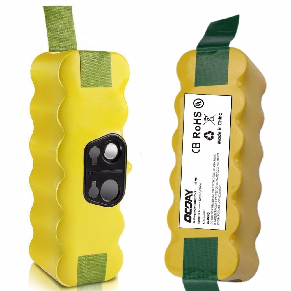 OCDAY 14.4V 4500mAh 4800mAh 6000mAh 8000mAh Ni-MH Vacuum Cleaner Rechargeable Battery Pack Replacement for Irobot for Roomba mini world diy ls mn1060