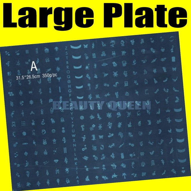 New!! BIG size * 268 Designs* DIY Nail Art Konad Stamp Stamping Image Plate Template #A * FREE SHIP*