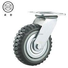 1PCS 5 inch Swivel Plate PVC Wheel 125mm Heavy Duty Industrial Casters