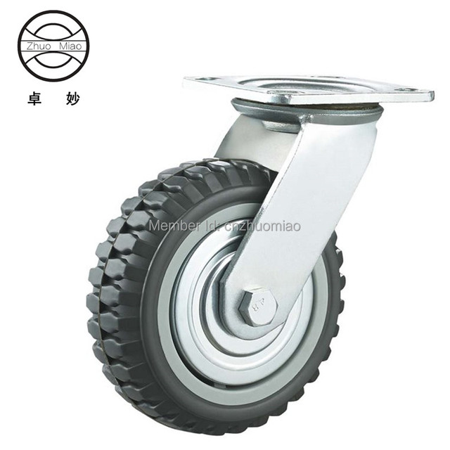 c09082d5df60 US $23.0 |4 PCS 5 inch Swivel Plate PVC Wheel 125mm Heavy Duty Industrial  Casters-in Casters from Home Improvement on Aliexpress.com | Alibaba Group