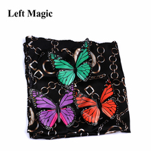 Magic Appearing Butterflies Tricks Butterfly From Empty Silk Freedom Close Up Stage Props Professional Gimmick