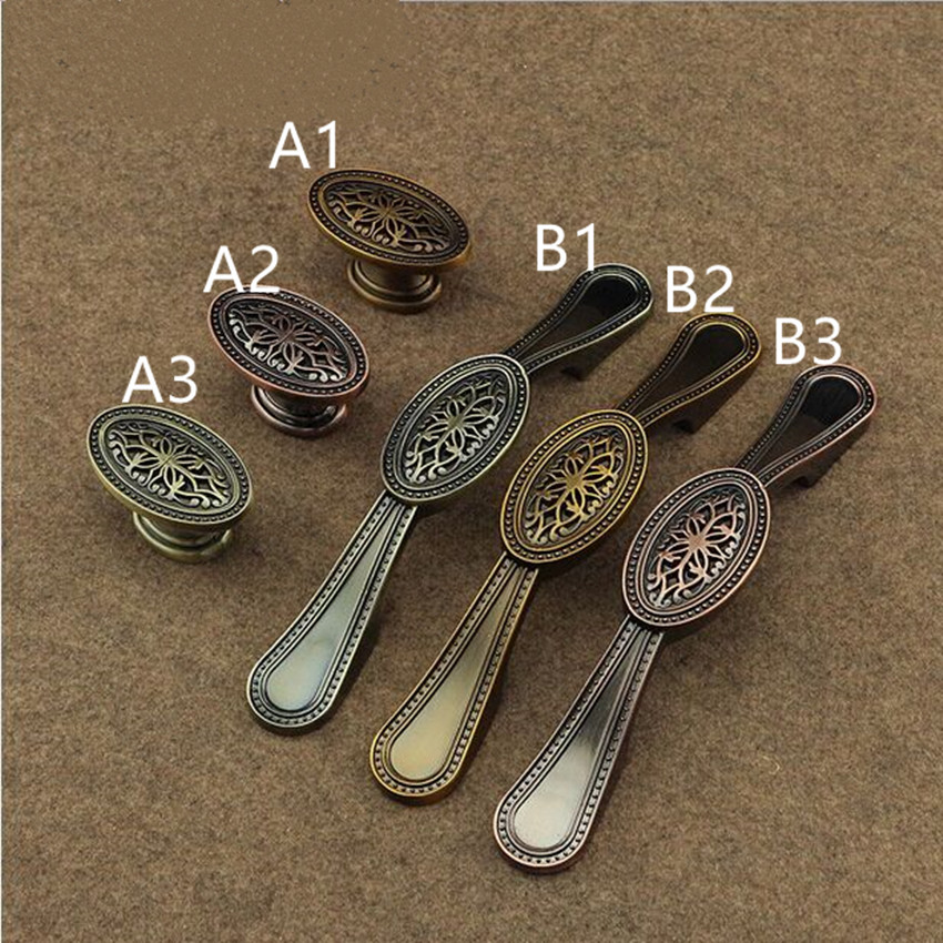 Bronze dresser pull redbronze drawer kitchen cabinet knob pull yellow antique brass cupborad retro furniture door handle 96mm phoenix kitchen cabinet drawer knob furniture handel