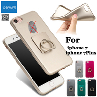 X Level Finger Grip Ring Holder Case For IPhone 7 X Level Jelly Silky TPU Cover