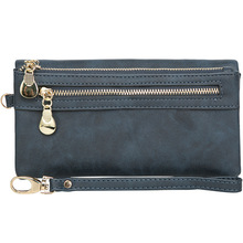 цена на Double Zipper  Clutch Purse PU Leather Women Wallets High Quality Designer Long Wallet Women Card Holder Ladies Purse Money Bag