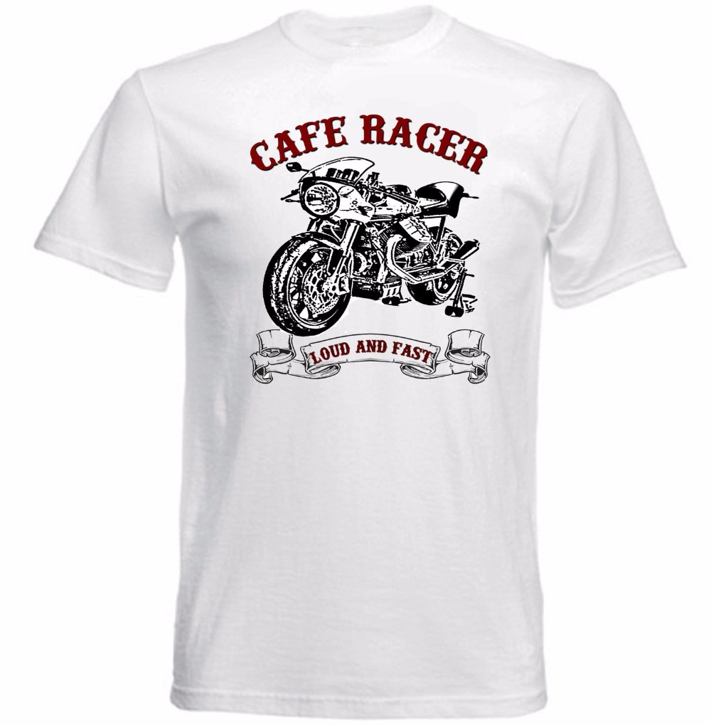 2018 Hot Sale Super Basic Tops Tees Vintage Italian Motorcycle Moto Cafe Racer Personalized T Shirts Fashion