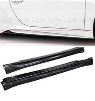 Для Porsche Carrera 2005 2011 стайлинга автомобилей V Стиль углеродного волокна сбоку юбки Bodykits