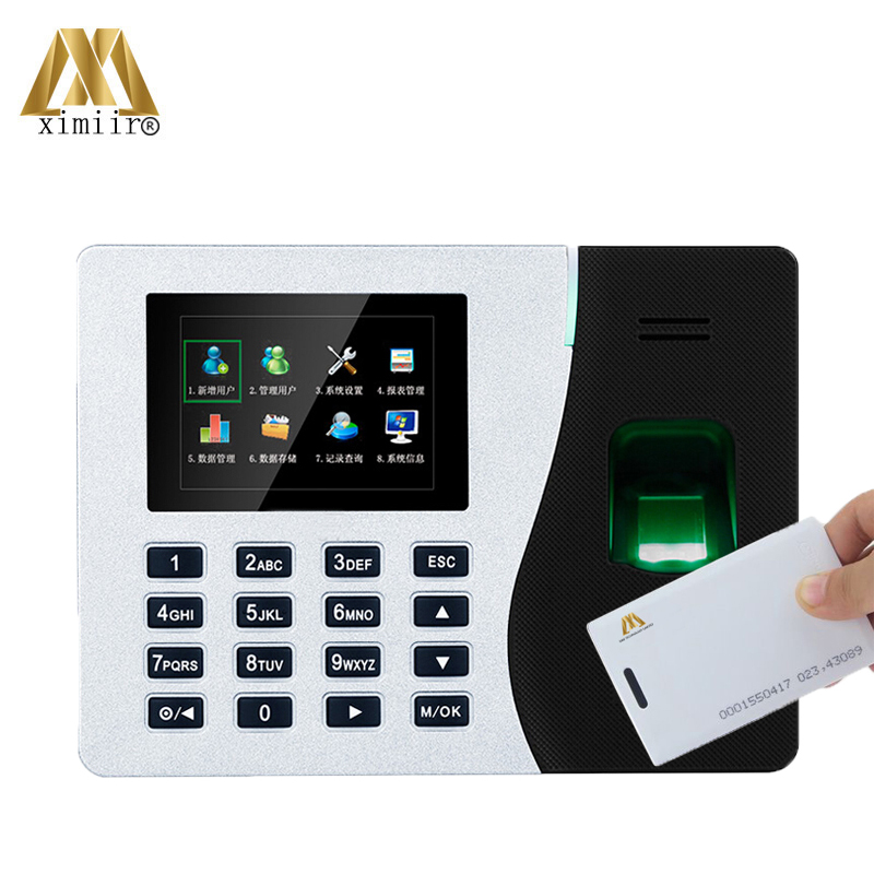 K14 ZK Biometric Fingerprint Time Attendance System With TCP/IP RFID Card Fingerprint Time Recorder Time Clock