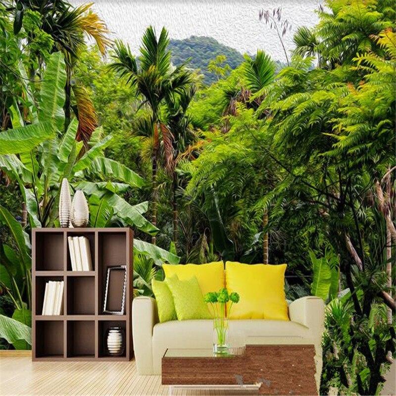Modern Stereoscopic 3D Murals Custom Photo Wallpapers Painting Rainforest Green Retro Wall Papers for Living Room Home Decor battlefield 3 или modern warfare 3 что