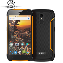 UHANS K5000 IP68 Waterphone shockproof mobile phone 5000mAh Battery 5.0″ MTK6753 Octa Core Android 7.0 GPS 3GB RAM 4G Smartphone