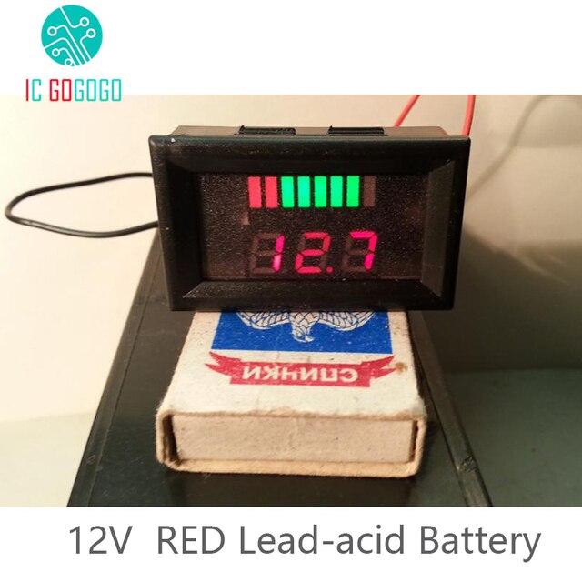 12 v au plomb capacit de la batterie indicateur rouge. Black Bedroom Furniture Sets. Home Design Ideas