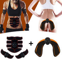 Electric Muscle Stimulator Trainer EMS Abdominal Muscle Exerciser Hip Trainer Smart Fitness Body Slimming Machine Body Building