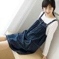 Maternity Dress Denim Suspenders Clothing Summer Vest One-piece Dress Plus Size For Pregnant Women 2017