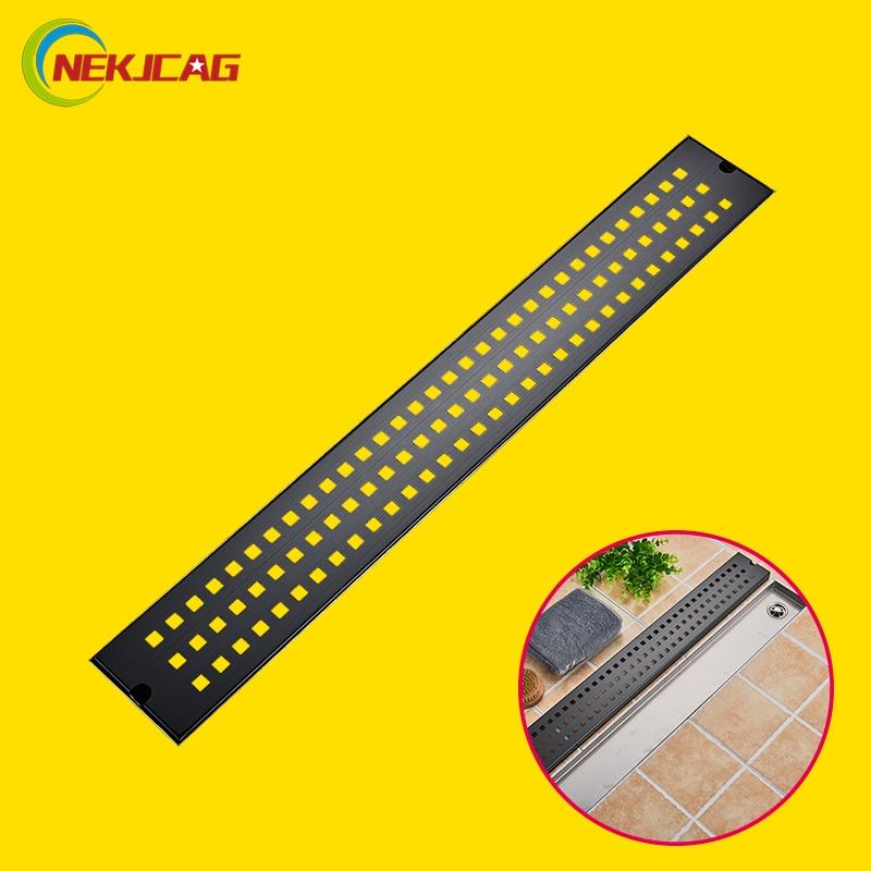 Stainless Steel 90cm Bathroom Drain Bathroom Linear Floor Drain Strainer 90 10cm Long Strip Channel Tile