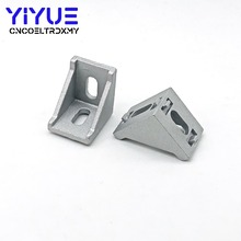 5Pcs 3030 Corner Fitting Angle Aluminum L Connector Bracket Fastener Match Use 3030 Industrial Aluminum Profile 10pcs corner fitting angle 20x20 20x40 2040 decorative brackets aluminum profile accessories l connector fasten connector