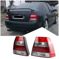 TAIHONGYU Pair Red Cherry Tail Brake Light Rear Lamp for VW Jetta MK4 IV Bora SEDAN 1999 2004