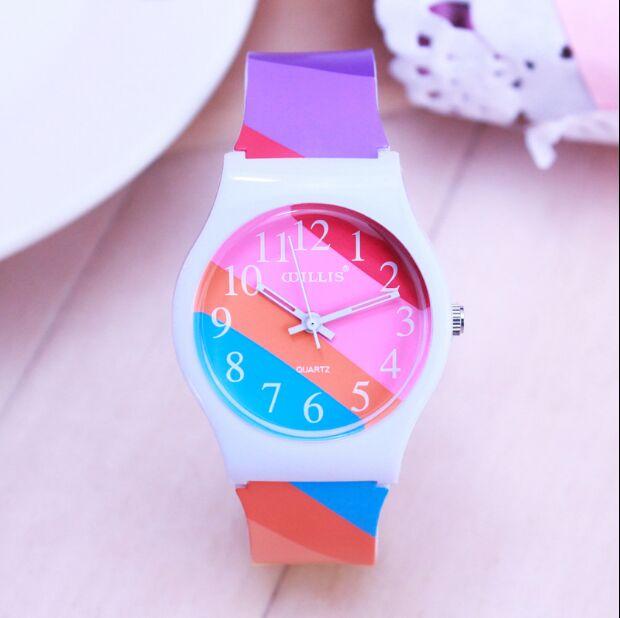 WILLIS Watches Women Bat Watches Chromatic Strip Watch Design Shock Resistant Sport Clock Silicone WristWatch Relogios Feminino