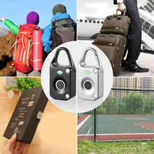 Electronic Intelligent Fingerprint Lock Keyless Mini Biometric Luggage Padlock Waterproof Anti Theft