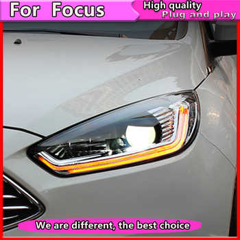 Car Styling Assembly for Ford Focus 2015-2018 LED  Headlights  DRL Lens Double Beam Bi-Xenon HID Dynamic turn signal - DISCOUNT ITEM  20% OFF All Category