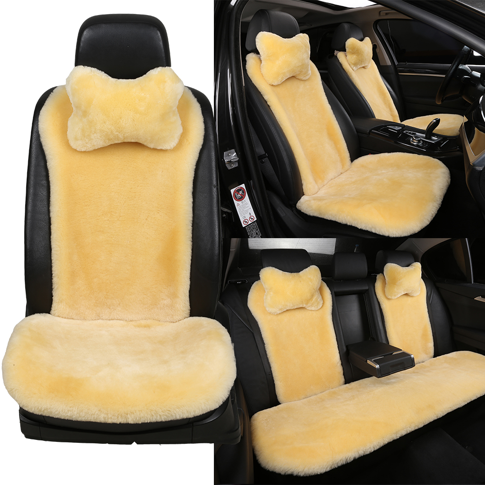 Ogland Authentic Sheepskin Car Styling Steering Wheel Covers For